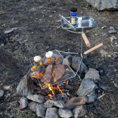 Camp Chef Lumberjack Over Fire Stake Grill