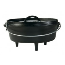 Lodge 12 Inch Cast Iron Camp Dutch Oven 6 qt.
