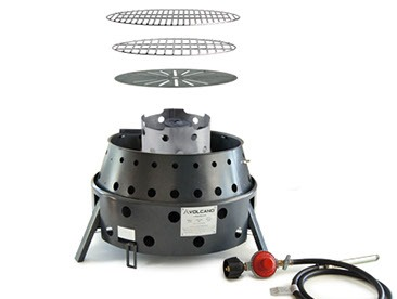 Volcano 3 Collapsible All Purpose Stove with the Propane Attachment